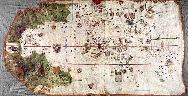 Nina: World Map, 1500 Print by Granger