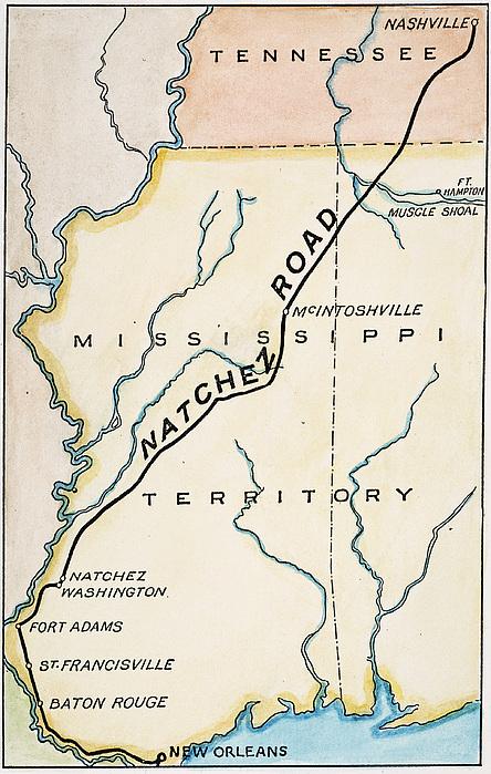 Natchez Trace, 1816 Print by Granger