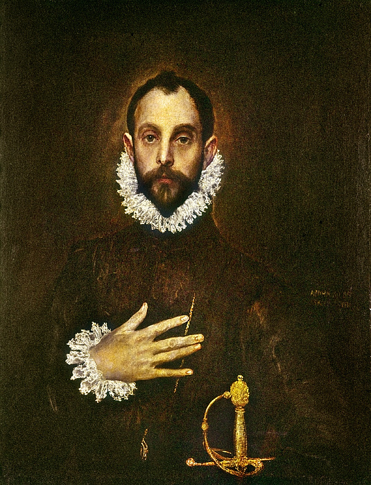 El Greco: Gentleman Print by Granger