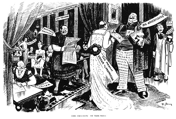 Press Cartoon, 1912 Print by Granger