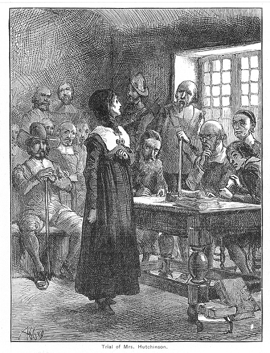 Anne Hutchinson (1591-1643) Print by Granger