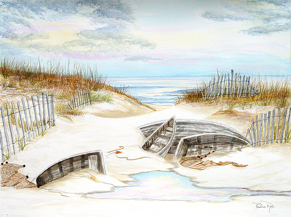 Beached Boats Print by Pauline Ross