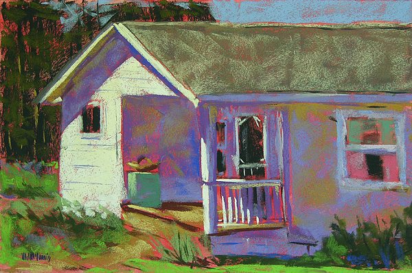 Blue Willow Farmers House Print by Mary McInnis
