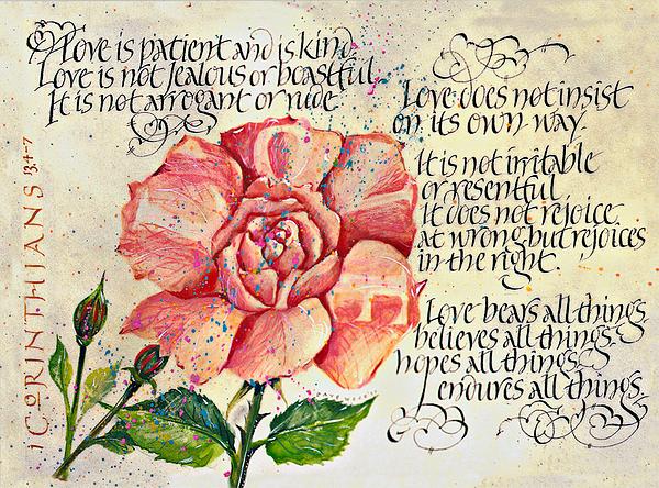 1 Corinthians 13 Print by Dave Wood