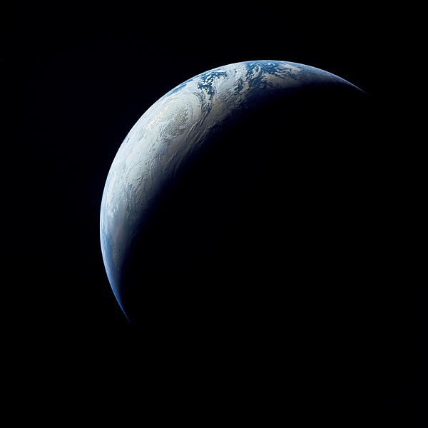 Crescent Earth Taken From The Apollo 4 Print by Stocktrek Images
