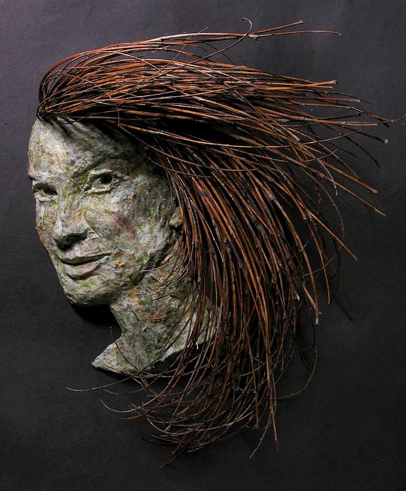 Daisy A Relief Sculpture By Adam Long Print by Adam Long