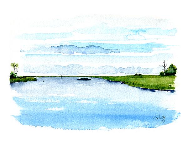 Davis Bayou Ocean Springs Mississippi Print by Paul Gaj