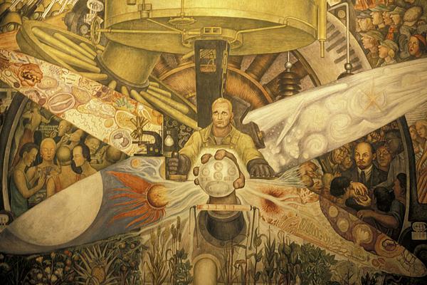 Diego Rivera Mural Mexico City Print by John  Mitchell
