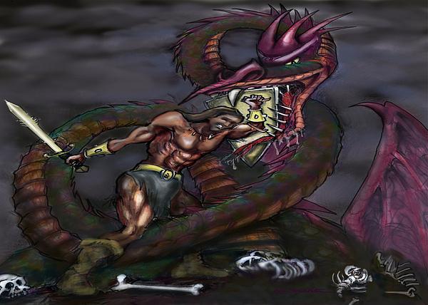 Dragonslayer Print by Kevin Middleton
