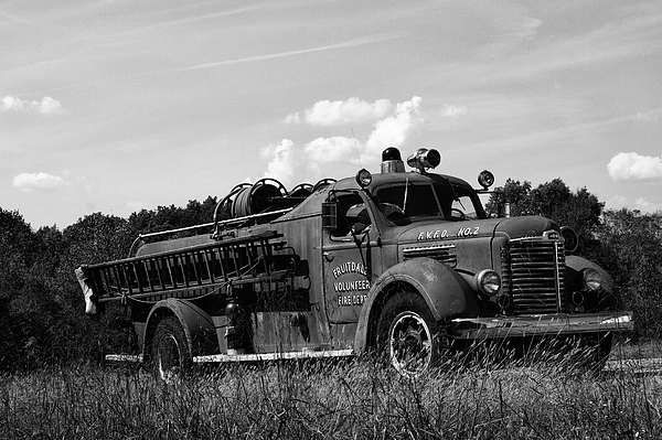 Fire Truck 2 Print by Off The Beaten Path Photography - Andrew Alexander