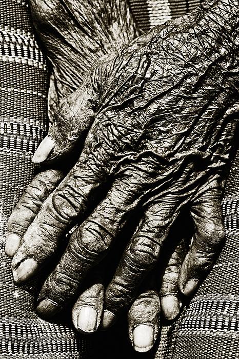 Folded Hands Print by Skip Nall