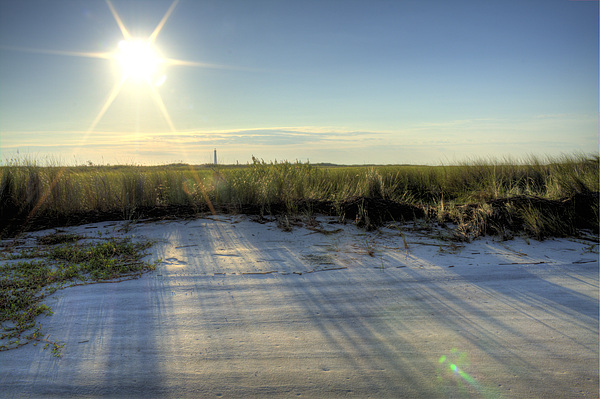Folly Beach Sunrise Over Morris Island Print by Dustin K Ryan