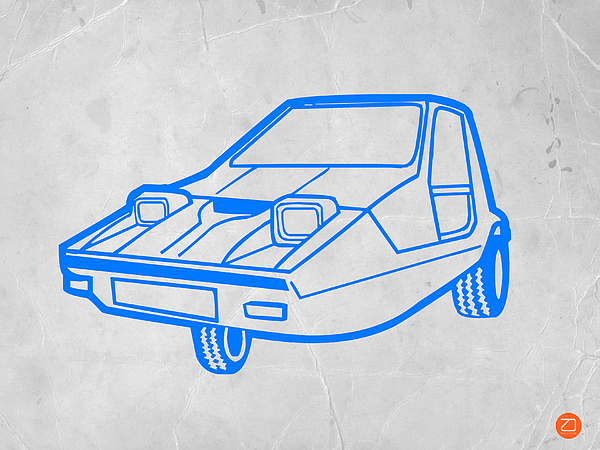 Funny Car Print by Naxart Studio