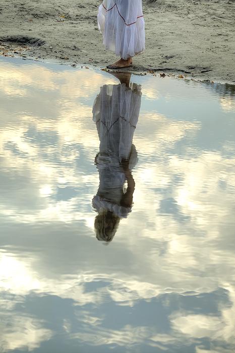 Girl And The Sky Print by Joana Kruse