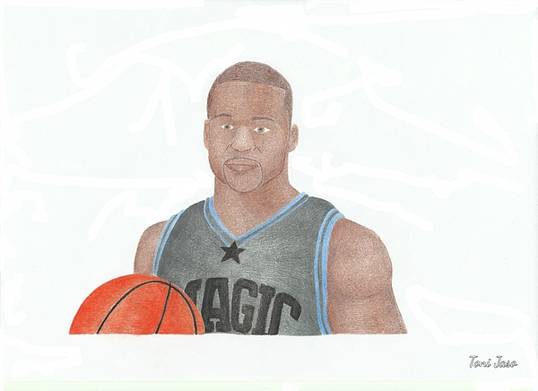 Jameer Nelson Print by Toni Jaso