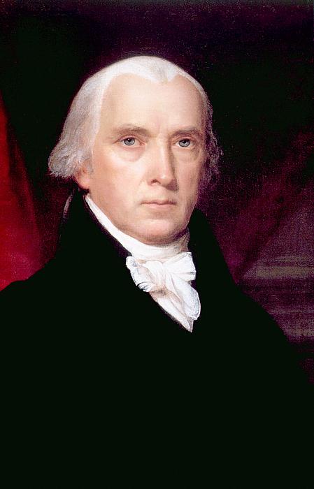 James Madison 1751-1836, U.s. President Print by Everett