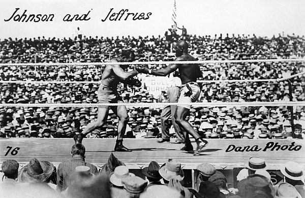 Johnson Vs. Jeffries, 1910 Print by Granger