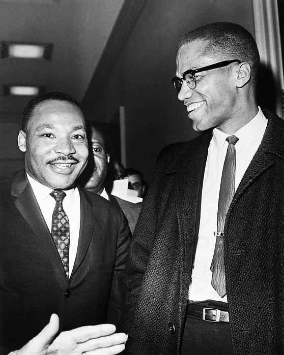 King And Malcolm X, 1964 Print by Granger
