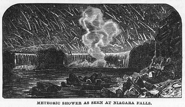 Leonid Meteor Shower, 1833 Print by Granger
