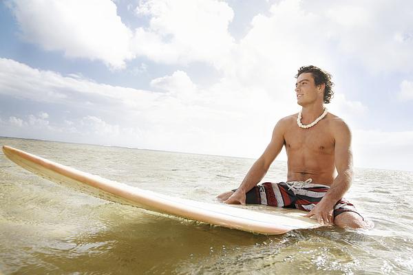 Male Surfer Print by Brandon Tabiolo - Printscapes