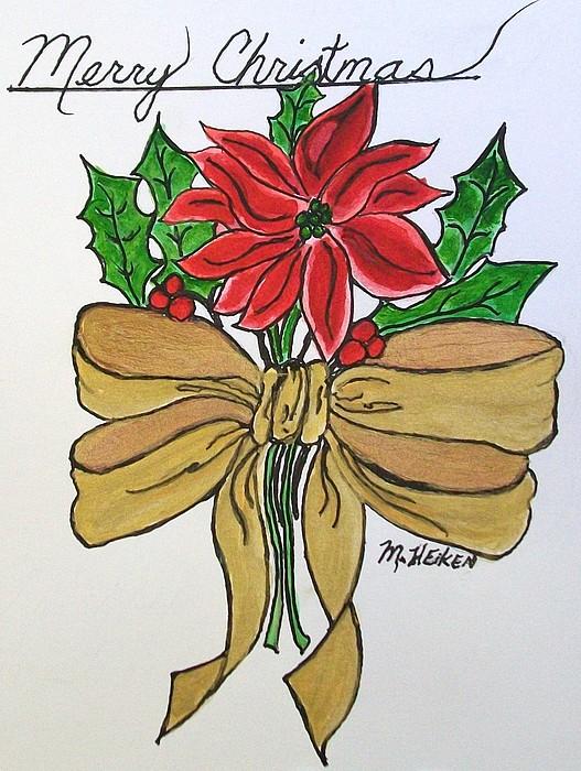 Merry Christmas Print by Marsha Heiken
