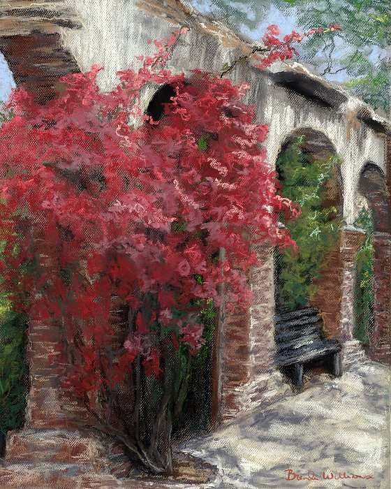 Mission Arches Print by Brenda Williams