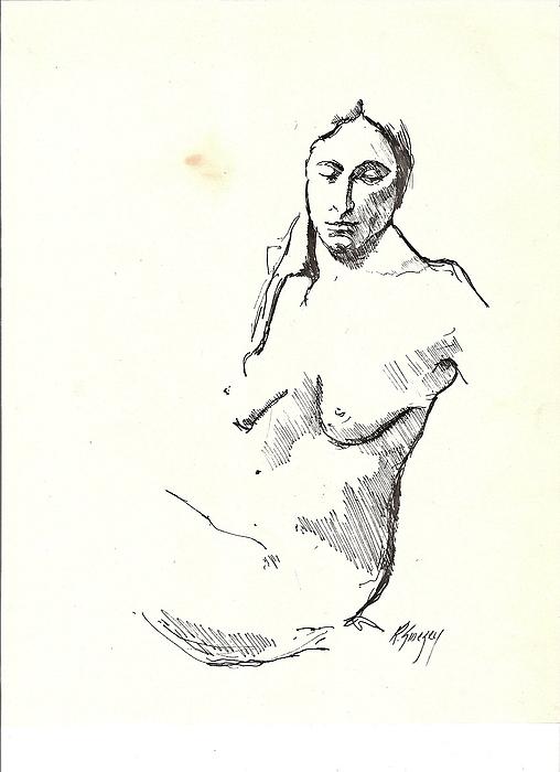Nude Three Print by R  Allen Swezey