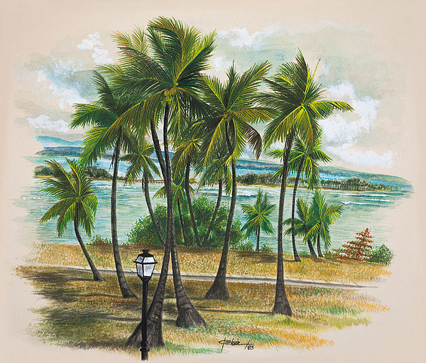 Old San Juan - Morro Print by George Bloise