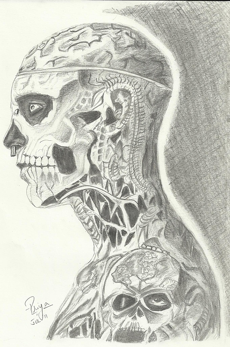 Rick Genest Print by Priya Paul