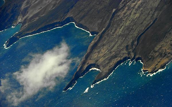Rocky Hawaiian Coastline Print by Elizabeth Hoskinson