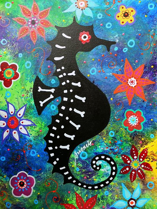 Pristine Cartera Turkus - Seahorse Day Of The Dead