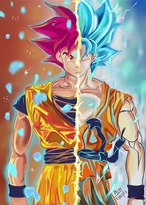 Goku Print by Mac Harrison