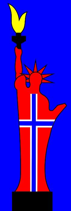 The Norwegian Statue Of Liberty Print by Asbjorn Lonvig