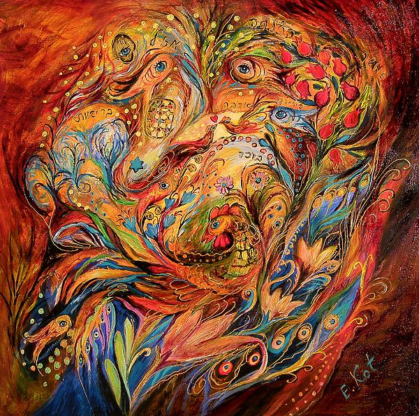 The Tale About Fiery Rooster Print by Elena Kotliarker