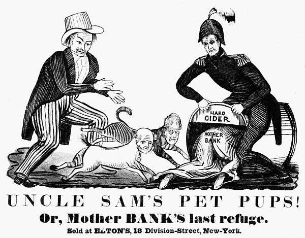 Uncle Sam Cartoon, 1840 Print by Granger