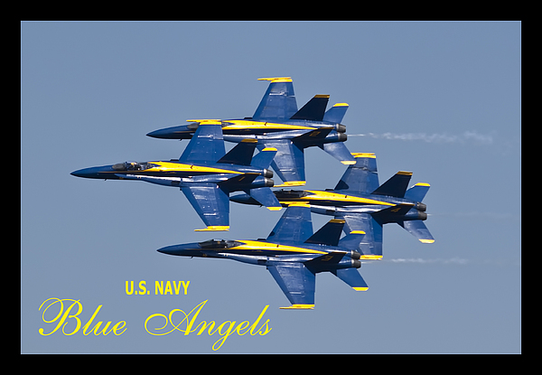 Us Navy Blue Angels Poster Print by Dustin K Ryan