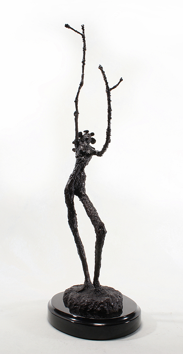 Votary Of The Rain A Sculpture By Adam Long Print by Adam Long