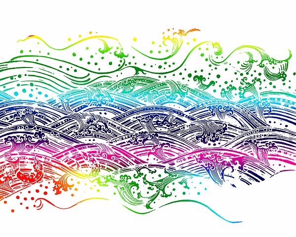 Water Pattern Print by Setsiri Silapasuwanchai