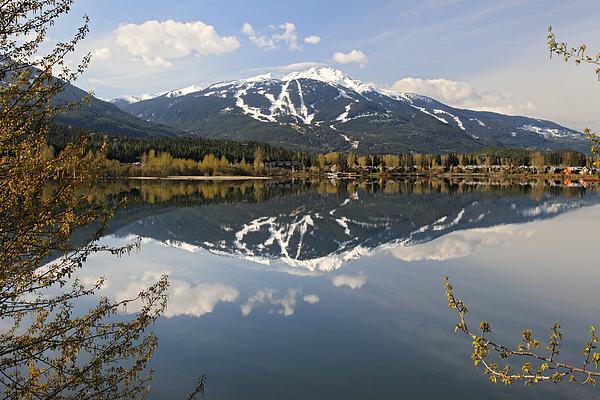 Whistler Blackcomb Green Lake Reflection Print by Pierre Leclerc Photography