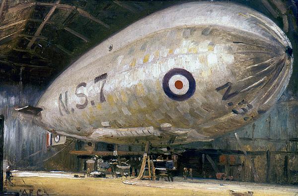 World War I: Airship Print by Granger