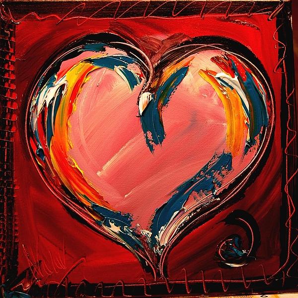 Hearts Print by Mark Kazav