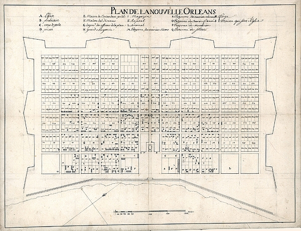 1722 Plan Of New Orleans, The Area That Print by Everett