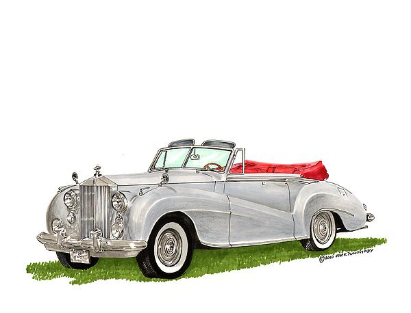 1953 Rolls Royce Silver Dawn Print by Jack Pumphrey