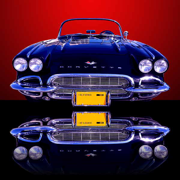 1961 Chevy Corvette Print by Jim Carrell