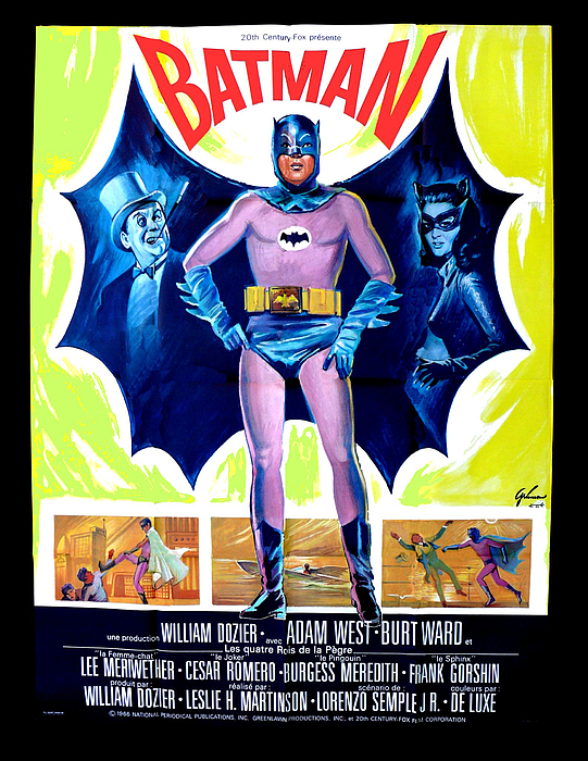 Paul Van Scott - 1966 Batman Movie Poster