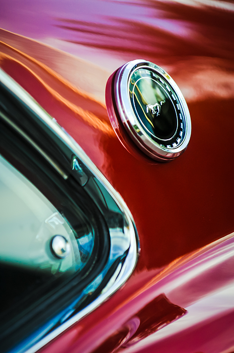 1969 Ford Mustang Mach 1 Emblem Print by Jill Reger