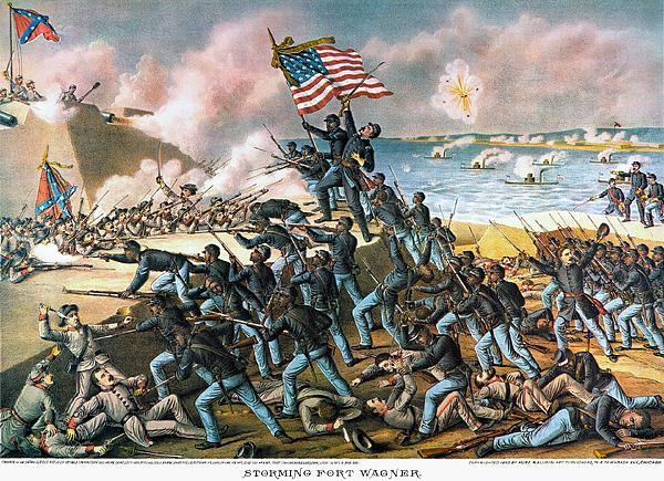 Battle Of Fort Wagner, 1863 Print by Granger