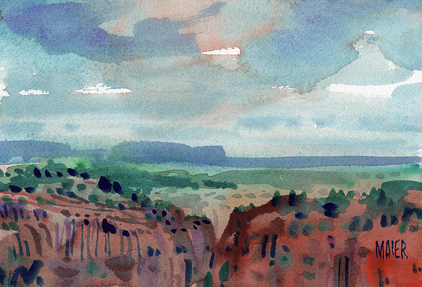 Canyon Overlook Print by Donald Maier