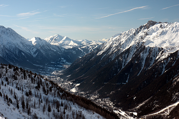 Chamonix Resort In The French Alps Print by Pierre Leclerc Photography