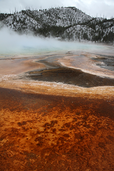 Grand Prismatic Pool In Yellowstone National Park Print by Pierre Leclerc Photography